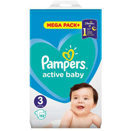 Scutece PAMPERS 81680867 Active Baby 3 Junior Mega Box 152 buc