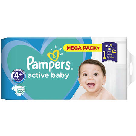 Scutece PAMPERS 81680870 Active Baby 4+  Mega Box 120 buc