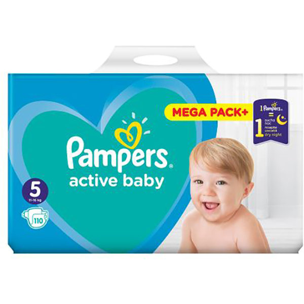 Scutece 81680873 Active Baby 5 Mega Box 110 buc thumbnail