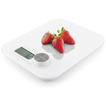 Cantar de bucatarie Trisa Dynamo Kitchen Scale Dinamometru 5 kg Tara Alb