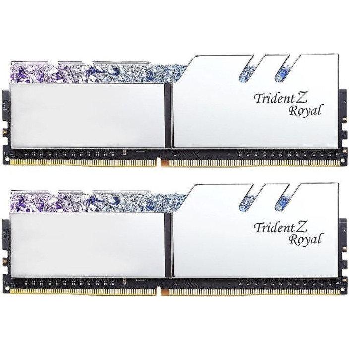 Memorie Trident Z Royal RGB Silver 16GB DDR4 3000MHz CL16 1.35v Dual Channel Kit thumbnail