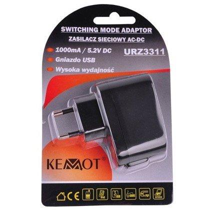 Incarcator retea URZ3311 USB 100mA Negru thumbnail