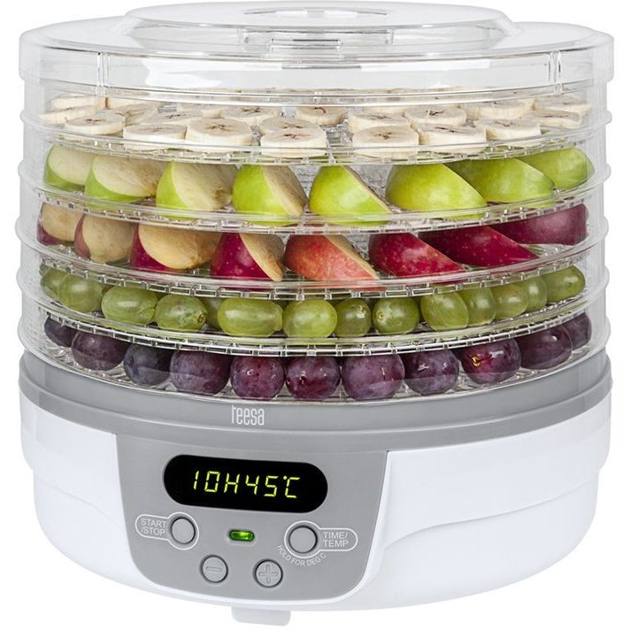 Deshidrator de fructe, legume si ciuperci TSA3031 250W 5 kg Alb / Gri