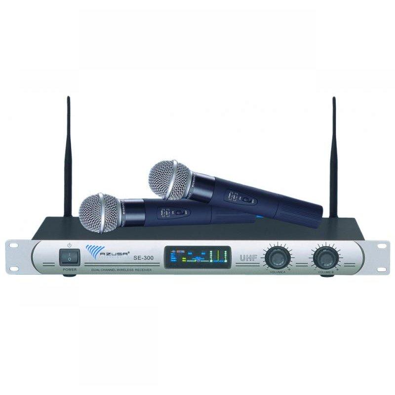 Statie 2 microfoane UHF SE-300