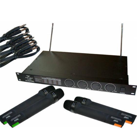 Statie 4 microfoane LS-888 Negru