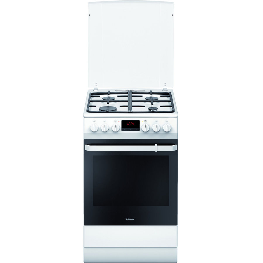 Aragaz Mixt FCMW582109 4 arzatoare cuptor electric aprindere electrica Alb thumbnail