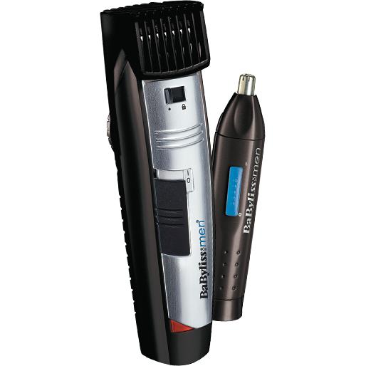 Trimmer pentru barba W-Tech + trimmer nas si urechi Style Edition E825PE Otel inoxidabil Autonomie 30 min Precizie 1mm Negru / Argintiu thumbnail