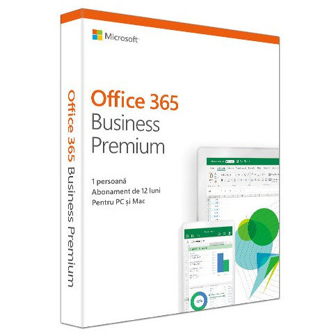 Aplicatie Office 365 Business Premium 2019 Engleza Subscriptie 1 An Medialess Retail thumbnail