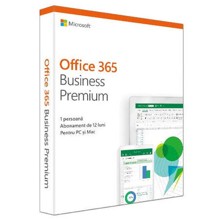 Aplicatie Microsoft Office 365 Business Premium 2019 Engleza Subscriptie 1 An Medialess Retail