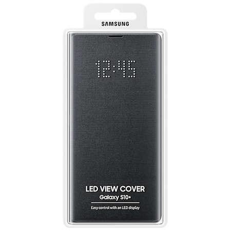 Husa Flip Cover Samsung Galaxy S10 Plus G975 LED View Cover Black