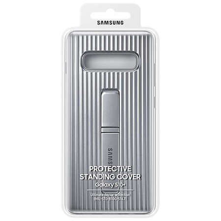 Husa Protectie Spate Samsung Galaxy S10 Plus G975 Protective Standing Cover Silver