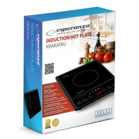 Plita electrica Esperanza EKH005 Krakatau inductie 2000W Negru