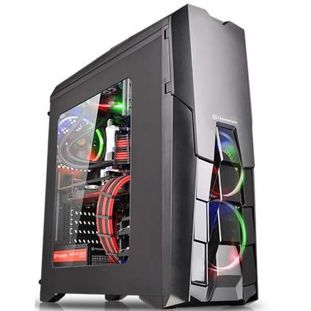Sistem desktop ITGalaxy Prime Gamer V11 Intel Core i3-8100 Quad Core 3.6 GHz 16GB DDR4 AMD Radeon RX 560 4GB GDDR5 SSD 120GB HDD 1TB Free DOS Black