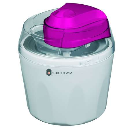 Aparat pentru preparat inghetata si sorbet Studio Casa Piccolo Gelato 12W 1.45 litri Alb / Roz