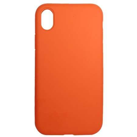 Husa Protectie Spate Just Must Silicon Pantone Portocaliu pentru Apple iPhone XR