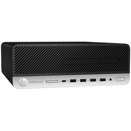 Sistem desktop HP ProDesk 600 G4 SFF Intel Core i3-8100 8GB DDR4 256GB SSD Windows 10 Pro Black