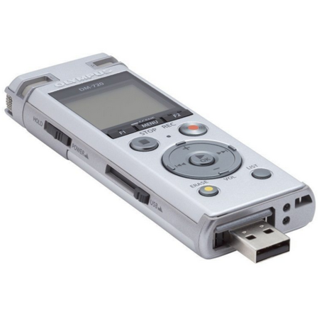Reportofon Olympus DM-720 Stereo 4GB Argintiu