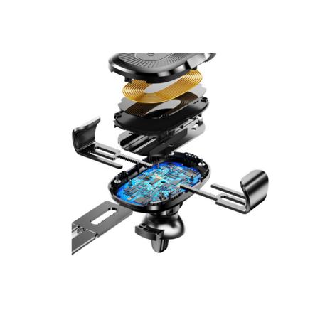 Suport Auto Baseus WXYL-01 Gravity cu Wireless Charger Negru