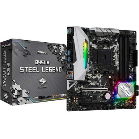 Placa de baza Asrock B450M Steel Legend AMD AM4 mATX