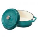 Semioala ovala fonta emailata Heinner HR-KB32-OVAL 33x26x11 cm 5.9 litri Taste of Home by Chef Sorin Bontea Albastru