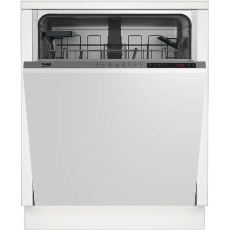 Masina de spalat vase incorporabila Beko DIN25310 13 seturi 5 Programe Clasa energetica A+ Panou Gri