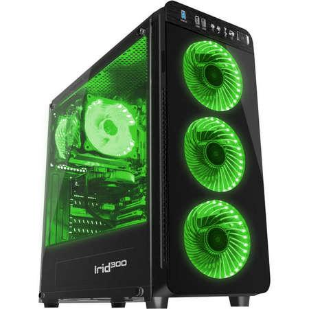 Sistem desktop ITGalaxy Rogue Plus AMD Ryzen 7 2700 Octa Core 3.2 GHz 16GB DDR4 GTX 1660 6GB DDR5 SSD 120GB + HDD 1TB Free Dos Black