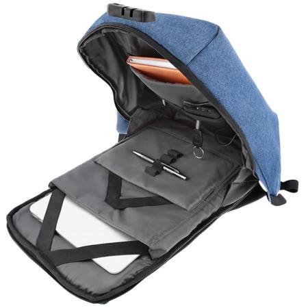 Rucsac laptop Tellur Antifurt V2 cu port USB 15.6 inch Albastru