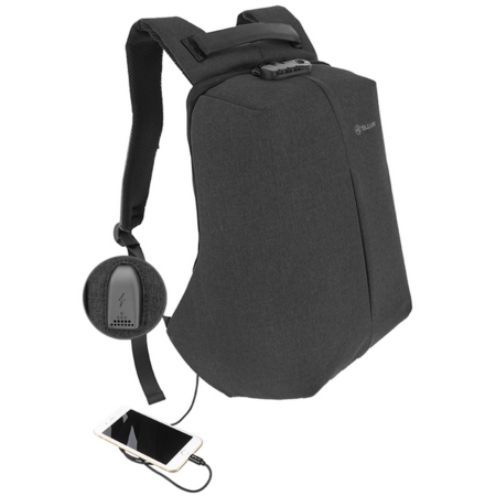 Rucsac laptop Tellur Antifurt V2 cu port USB 15.6 inch Negru
