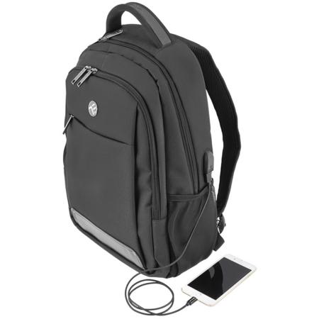 Rucsac laptop Tellur Companion cu port USB 15.6 inch Negru