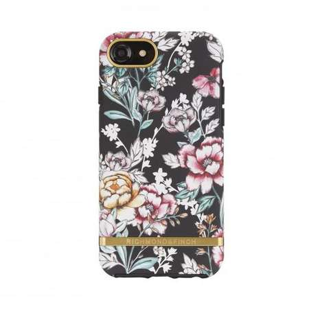 Husa fashion Richmond and Finch Freedom 360 iPhone 6/7/8 Black Floral