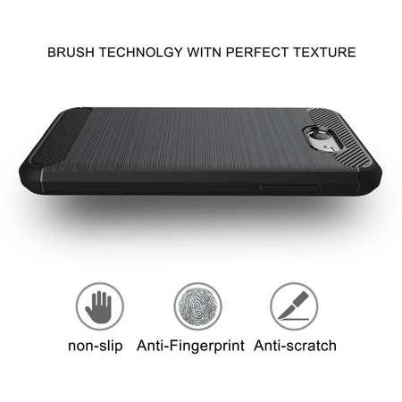 Husa TECH-PROTECT TPUCARBON Motorola Moto Z Play Black