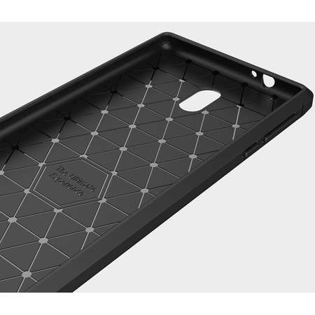 Husa TECH-PROTECT TPUCARBON Nokia 3 Black