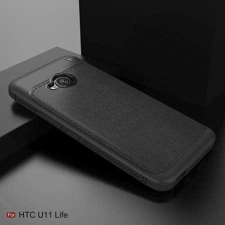 Husa TECH-PROTECT TPULEATHER HTC U11 Life Black