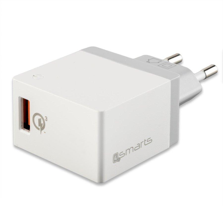 Incarcator retea VoltPlug Quick Charge 3.0 18W Alb