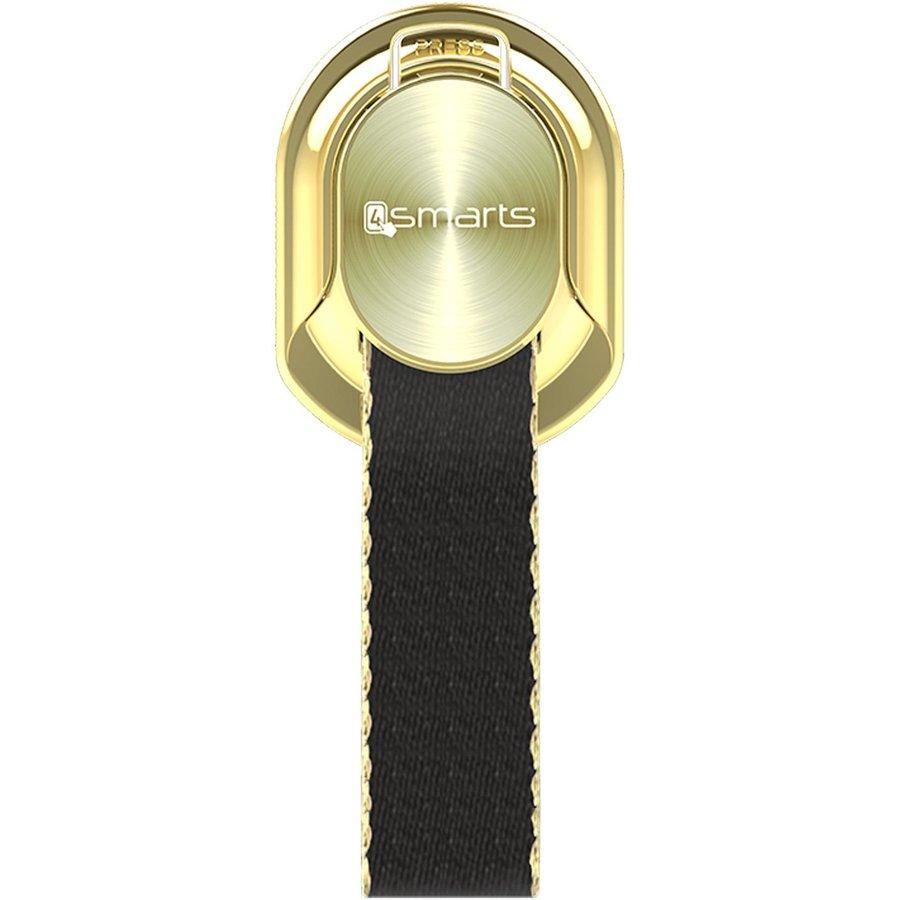 Suport universal pentru telefon Finger Strap gold/black