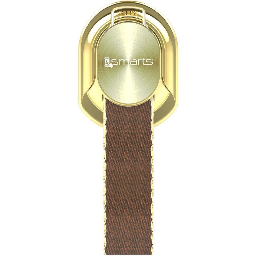 Suport universal pentru telefon Finger Strap gold/cognac