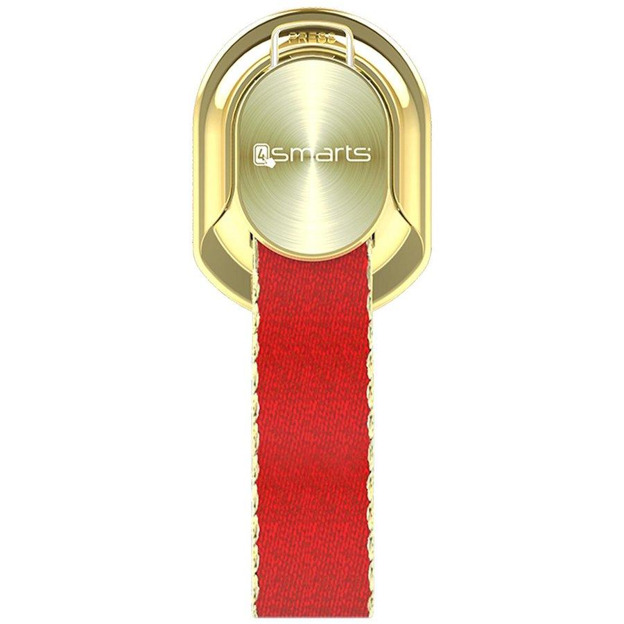 Suport universal pentru telefon Finger Strap gold/red