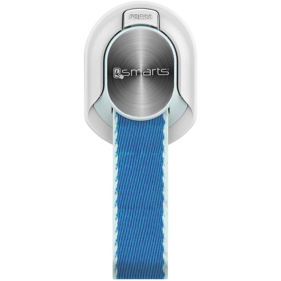Suport universal pentru telefon Finger Strap white/blue