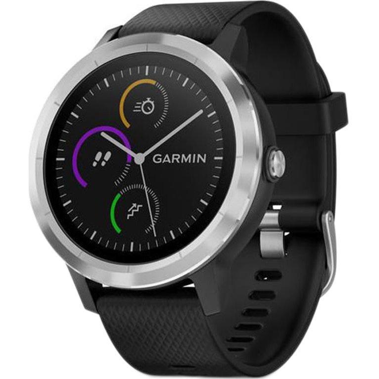 Smartwatch Vivoactive 3 GPS Silver curea Silicone Black thumbnail