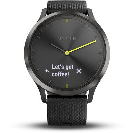Smartwatch Vivomove HR Sport Black Silicon Band Black thumbnail
