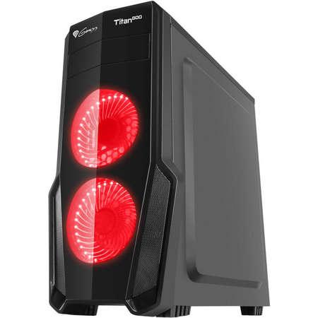Sistem desktop Rogue 8 Powered by ASUS AMD Ryzen 7 2700 Octa Core 3.2 GHz 16GB RAM DDR4 AMD Radeon RX 570 STRIX GAMING 4GB DDR5 SSD 120GB M.2 + HDD 1TB Free Dos Black