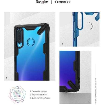 Carcasa Ringke Fusion X Huawei P30 Lite Black