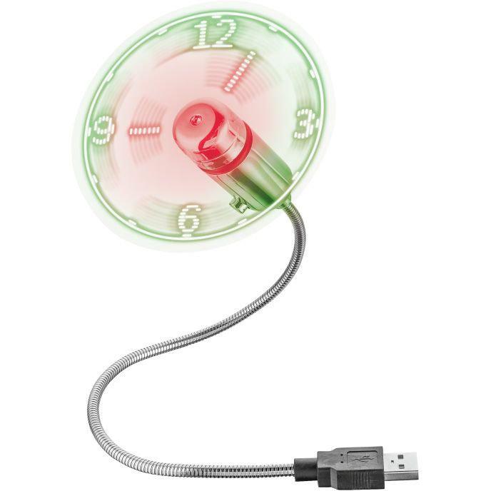 Ventilator USB Flex Mini Fan with Clock