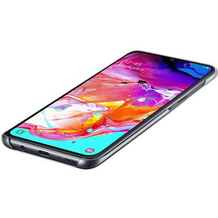 Husa Protectie Spate Samsung Gradation Cover Black pentru Galaxy A70 2019