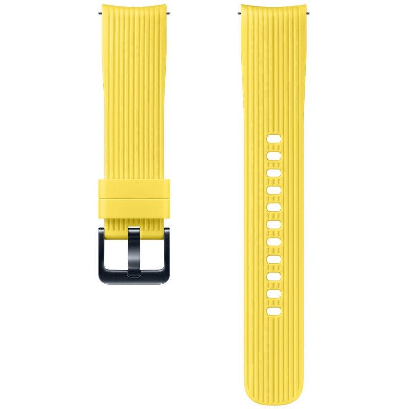 Curea smartwatch Silicone Strap 20 mm Yellow pentru Samsung Galaxy Watch 42 mm thumbnail
