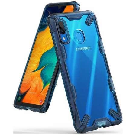 Husa Protectie Spate Ringke Fusion X Transparent / Albastru pentru Samsung Galaxy A30 2019