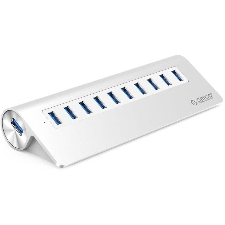 Hub USB M3H10-V1-EU-SV V1 Aluminiu 10x USB 3.0 Argintiu thumbnail