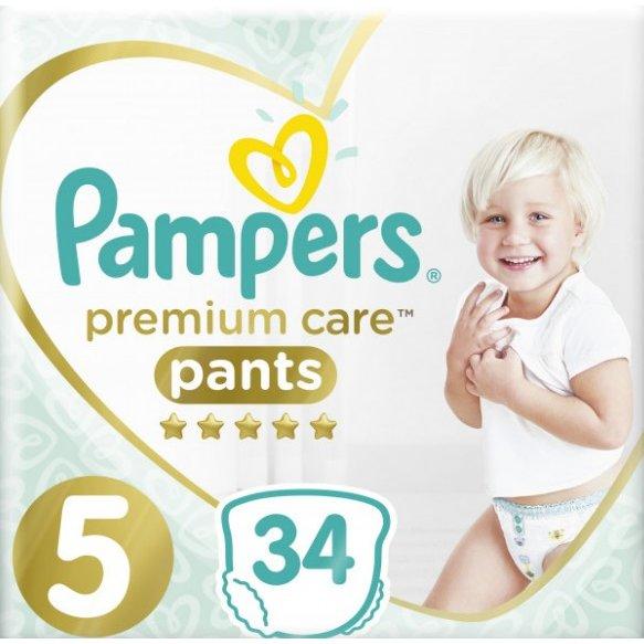 Scutece Premium Care Pants 5 Value Pack 34 buc