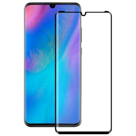 Folie protectie Case friendly Second Glass Curved Colour Frame Huawei P30 Pro Black