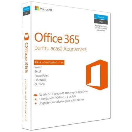 Microsoft Office 365 Home 32/64 bit RO Licenta 1 an / 5 utilizatori